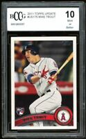 2011 Topps Update #US175 Mike Trout Rookie Card BGS BCCG 10 Mint+