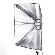 Photo Lighting Softbox 50x70cm W/ 4 in 1 E27 Socket Bulb Lamp Holder Light Stand