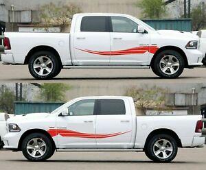Light pickup graphic hitch 2015 up side door stripe lift for Dodge Ram 1500 2500