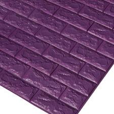 1/5/10x PE Foam 3D Brick Wall Sticker Self-Adhesive DIY Wallpaper Panels Decal