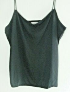 WOMENS/GIRLS BLACK V-NECK CAMISOLE TOPS 2 FOR JUST £4.99