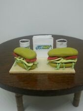 1:12 Dollhouse Miniature Food Subway Sandwiches for Two