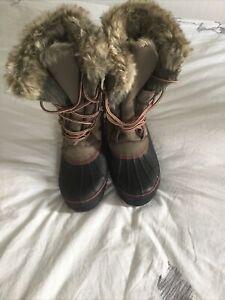 Womens Khombu North Star, Waterproof Snow Boot, size5, Tan, New