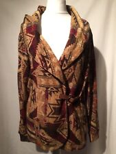 RALPH LAUREN Indian Aztec Style Jacket Buckle Closure XS BNWT