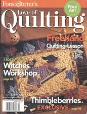 Love Of Quilting Magazine Oct 2005 Freehand Folk Art Fall Pumpkin Witches Noel