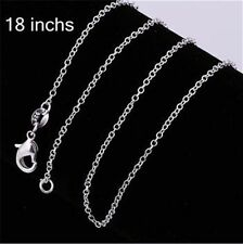 Stunning 925 Sterling Silver Necklace Chain 18''/46cm 1MM Link Wholesale Price