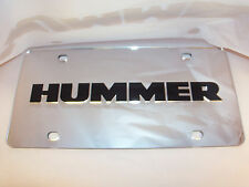 Hummer License Plate Silver/Black NEW!!