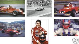 Gilles Villeneuve F1 Formule Un Légende jeu de carte postale