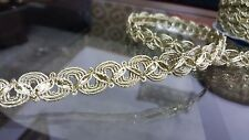 1.5cm- 2 metre High quality beautiful gold braid lace trimming for crafts decor