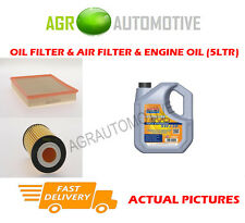 PETROL OIL AIR FILTER KIT + LL 5W30 OIL FOR VAUXHALL SIGNUM 1.8 140 BHP 2005-08