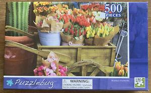 Puzzles: Puzzlebug Jigsaw Puzzle - Market flowers (500 pieces)
