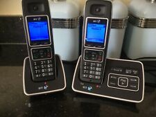 BT6500 Twin Cordless Dual Handset Phones And Answering Machine Fully Working.