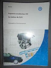 VW moteur 2.0 85/88 Kw Golf Cabriolet : programme autodidactique 233