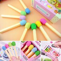 1 Box Pencil Cute Awarding Kids Novelty Korean Match Stationery Rubber Eraser