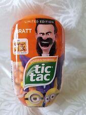 NEW Despicable Me 3 Minions Limited Edition Tic Tac Yellow & Orange w/ Bratt