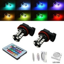 Multi-color RGB H11/H8 LED Bulbs with Wireless Remote For Fog Light Driving Lamp