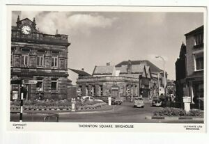 A Lilywhite Real Photo Post Card of Thornton Square, Brighouse. West Yorkshire.