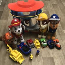PAW Patrol Tower Plushies Rubble Digger & Chase Police Boat Small Vehicle Bundle