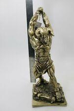 "Ancient Greek Mythology Minotaur Polystone 12"" Statue Bronze Finish"