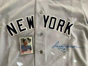 RARE NY Yankee Reggie Jackson signed authentic Rawlings JERSEY #44 Ticket COA