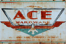 ACE HARDWARE STORE DIORAMA BUILDING SIGN DECAL 3X2  MORE SIZES AVAIL