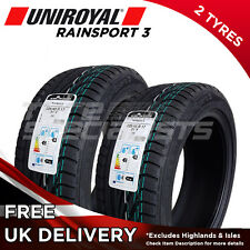 "2x NEW 225 45 17 UNIROYAL RAINSPORT 3 225/45R17 91Y (2 TYRES) MAX WET GRIP ""A"""