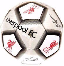LIVERPOOL FC Size 5 2017 Ball Signature Football Silver Euro 16 Gift Xmas LFC