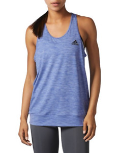 NEW Women's ADIDAS PERFORMER BANDED TANK  Size S/M/L/XL Blue