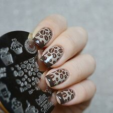 Nail Art Stamping Image Plate Stencil Coffee Time Design DIY BP-91 BORN PRETTY