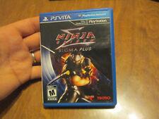 Ninja Gaiden Sigma Plus PS VITA Sony PlayStation Vita PSVITA COMPLETE EXCELLENT