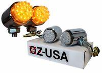 Running light turn signal Amber LED bulle custom chrome cruiser motorcycle dual