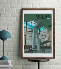 Wigan Baths International Pool, Retro Art Print Poster