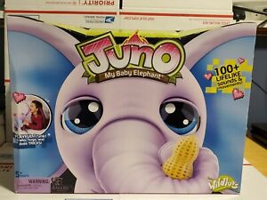 Juno My Baby Elephant with Interactive Moving Trunk Electronic Pet New