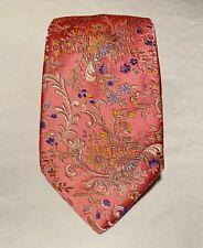 Brioni Pink Floral Luxury Men's Necktie Long 100% Silk Made In Italy