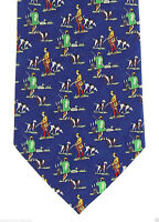 Bird Hunting Men's Necktie Small Print Duck Stream Hunt Dog Blue Gift Neck Tie