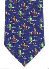 Bird Hunting Mens Necktie Small Print Duck Stream Hunt Dog Blue Gift Tie
