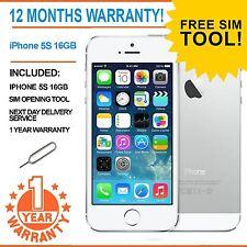 Apple IPHONE 5S 16GB Sbloccato DI FABBRICA-BIANCO-difettoso TOUCH ID