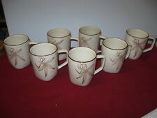 """WINFIELD POTTERY (CALIFORNIA)  """"PASSION FLOWER""""  MUGS (7)  ---  HARD TO FIND"""