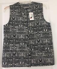 Nwt Chicos Women's Tika Briana Vest Black/white SZ 0