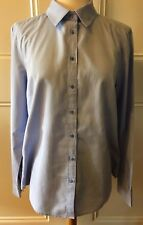 SPORTSCRAFT Womens Light Blue Pinpoint Oxford Button Front Long Sleeve Shirt 12