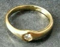 KLASSISCHER VERLOBUNGSRING 18 Karat GOLD 750/f. mit BRILLANT ~3,8 gr. RW 58