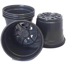 6 inch Round Black Plastic Pots - SET OF 50 - Landmark pot Nursery
