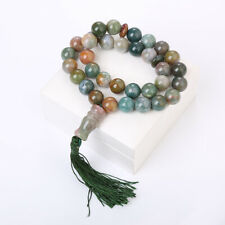 Aquatic Agate Natural Stone Islamic Prayer Rosary Necklace 33 Beads Misbaha 10mm