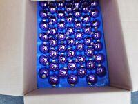 50 Weihnachtsbaumkugeln / Glaskugeln in Lila - glänzend Durchmesser 5 cm