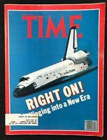 TIME MAGAZINE Apr 27 1981 SHUTTLE COLUMBIA / REAGAN ASSASSINATION Brixton Riot