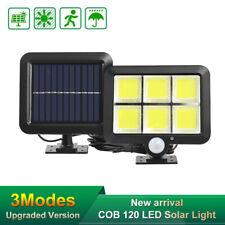 120 LED Solarleuchte Solarlampe mit Bewegungsmelder Außen Fluter Wandstrahler