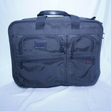TUMI Alpha Black Nylon Deluxe 2-Wheeled Rolling Carry-On Briefcase - 2207D3