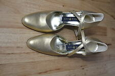 Patrick Cox Gold High Heel Ankle Strap size 37 1/2