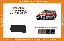 pellicola oscurante vetri dahiatsu terios 5p dal 1998-2006 kit lunotto