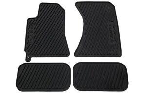 2003 - 2008 Subaru Forester All weather Rubber floor mats Black OEM 4pcs Genuine